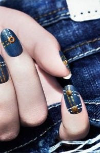 Double Denim Nail Design