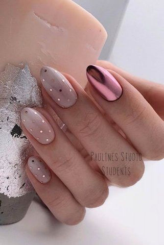 Crystal ombre nail design