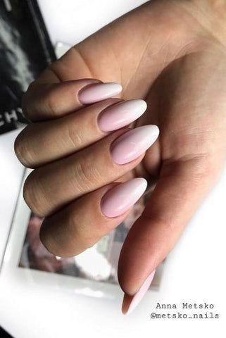 Daily French ombre nail design