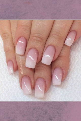 Cute transparent ombre nail design