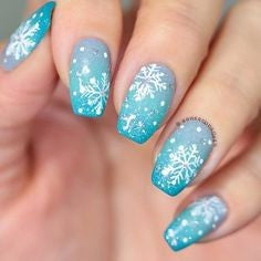 Christmas Nail Art With Snowflakes10
