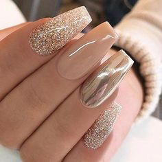 Gold and silver nails