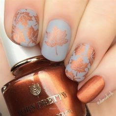 Autumn nail art design