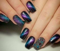 Cat eye nail design