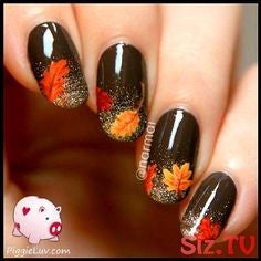 Autumn breath nail design