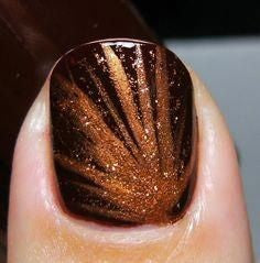 Autumn colors thanksgiving nail design