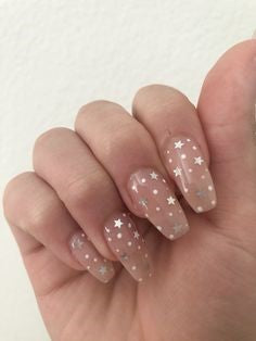 Star Nude Nail Design