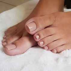 Nude Toe Nail Designs