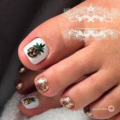 Fruit pineapple Toe Nail Designs