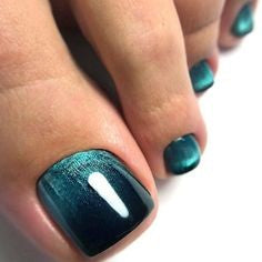 Easy Mirror Toe Nail Designs