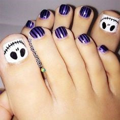 Halloween Toe Nail Designs