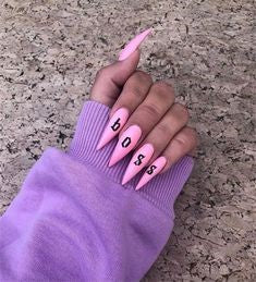 Letter Stiletto Nail Designs