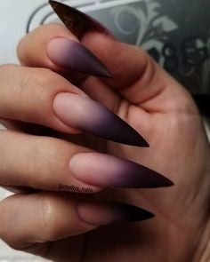 Ombre Stiletto Nail Designs