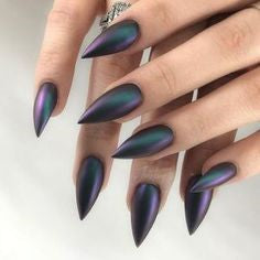 Holographic Stiletto Nail Designs