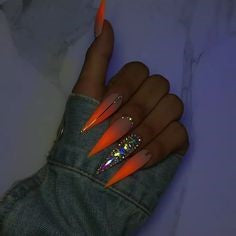 Luminous Stiletto Nail Designs
