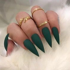 Green Stiletto Nail Designs