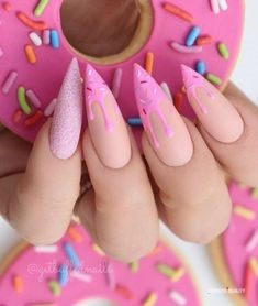 Candy Stiletto Nail Designs