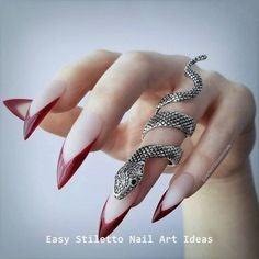 French Stiletto Nail Designs