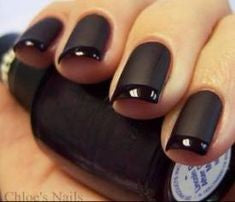 French Matte Nail Design