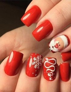Santa Claus Nail Art Ideas