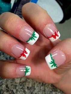 French Christmas Gift Nail Design
