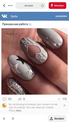 Hollow out Christmas Nail Design