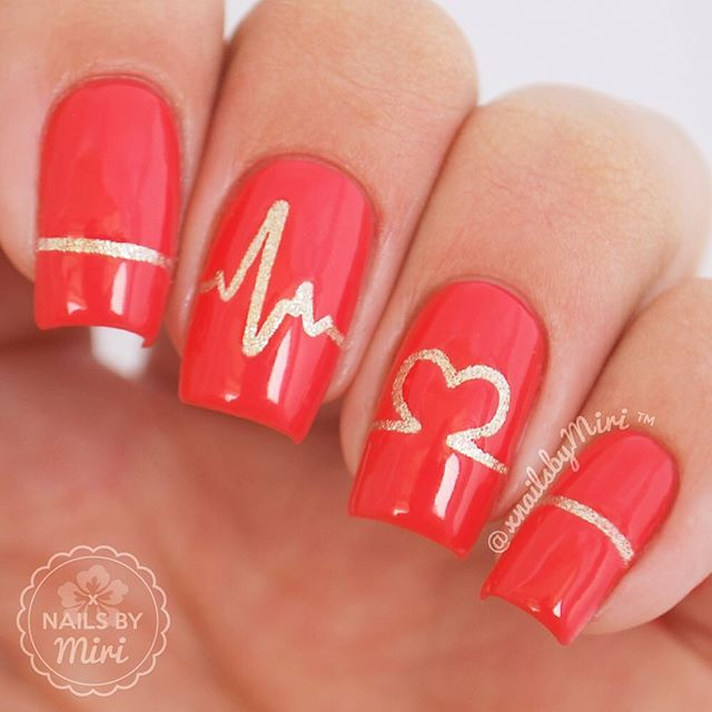 66+ Best Valentine's Day Nails Designs for 2018-pic19