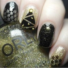 Christmas Star Nail Design