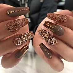Luxurious Rhinestones Nail Art Design