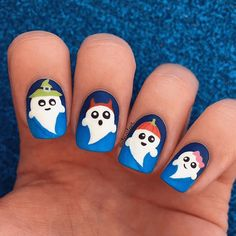 Ghost Nail Art Design-7