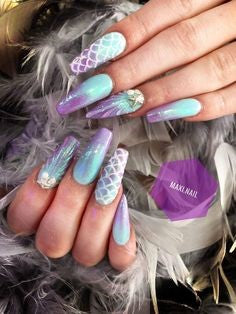 Ombre Mermaid Nail Art Design