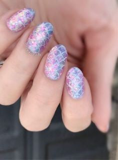 Colorful Mermaid Nail Art Design