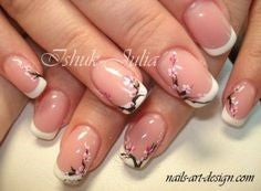 Adorable Floral French Nail Art Design