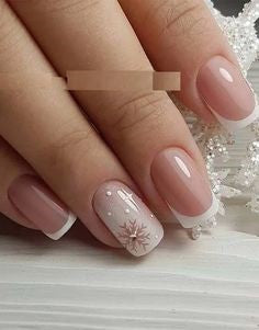 Snowflake French Nail Design