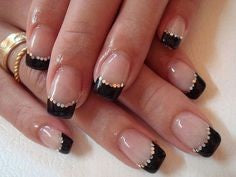 Black Elegance French Nail Design