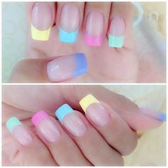 Colorful French Nail Design