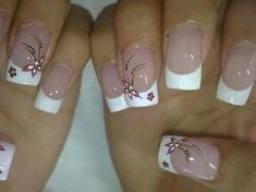 Butterfly French Nail Design