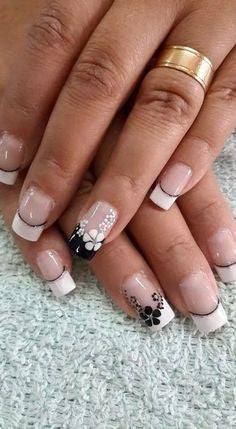 Sticker French Nail Design