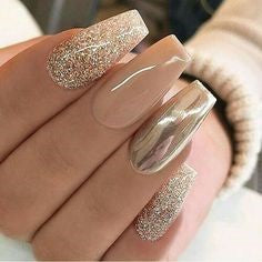 Glitter Metallic Nail Designs