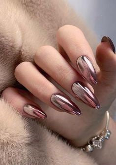 Ombre Metallic Nail Designs