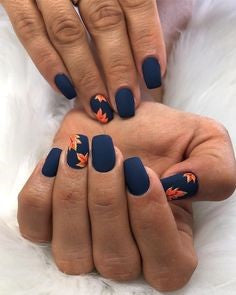 Autumn leaves Nail Design