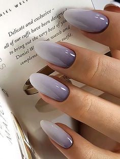 Purple Ombre Nail Design