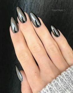 Black Chrome Nails