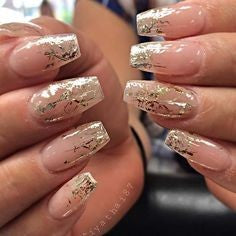 Gold Sequins Nail Designs