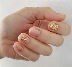 Gold stickers Nail Designs