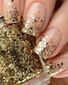 Holiday With Gold Nail Designs