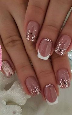 French Gold Nail Designs