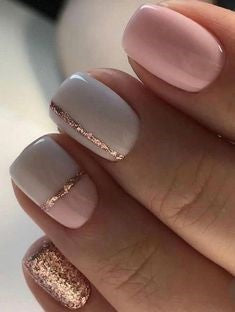 Simple Gold Nail Designs
