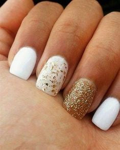 Gold Nail Designs For Short Nails