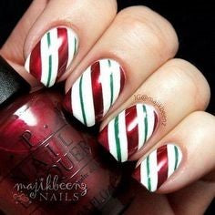 3 color Christmas Nail Design